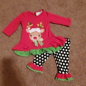 Little girl Christmas outfit